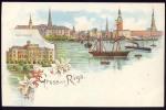 RIGA   Litho           Old Postcard   Pre-1904 - Letonia