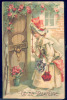 179605-Valentine´s Day, IAP, Ellen Clapsaddle, Girl Ringing Doorbell, Embossed Litho - Valentine's Day