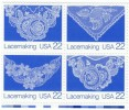 #2351-2354 Block Of 4 Lace Making 22-cent US Postage Stamps - United States