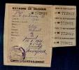 GUERRE 40-45  CARTE DE RAVITAILLEMENT- - Vieux Papiers