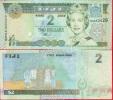 Fiji, Banknote / 2 Dollars 2002 A, UNC Crisp - Fidji