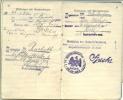 Militärpaß Inf. Regt. Prinz Wilhelm Nr. 112 Und Bezirkskommando Rastatt - 1914-18