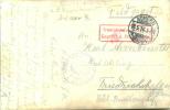 Feldpost 1.WK Vereinslazarett ACHERN Und Zensur FRIEDRICHSHAFEN 1916 - Deutschland