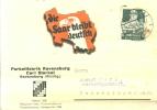 Firmenpostkarte Mit Vignette DIE SAAR BLEIBT DEUTSCH 1934 - Briefe U. Dokumente