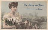 FIVES LILLE - DU MONT DE TERRE , Je Vous Envoie Ces Fleurs - Jolie Carte Fantaisie Femme Et Fleurs - Lille