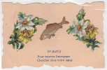 20724 Ier Avril Fleurs Jonquille Relief Collage -poisson - Sans éd - Trouvez Envoyeur Cherchez Coeur