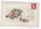20725 Bonne Année, Collage Relief Colombe -sans éd -1913 - Nouvel An