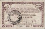 EMPRUNT GARANTI PAR DELIBERATIONS DU 23 AVRIL 1915 DE 70 COMMUNES _ DIX CENTIMES _ 23 AVRIL 1915 - Bons & Nécessité