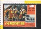 V48349  CINEMA MANIFESTI SU CARTA I 4 MOSCHETTIERI ALDO FABRIZI CAVALLI CAVALIERI - Posters On Cards