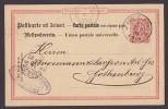 Germany Deutsches Reich Postal Stationery Ganzsache Postkarte M. Antwort DÜSSELDORF 1887 To GOTHENBURG Sweden (2 Scans) - Germany