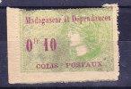 MADAGASCAR Colis Postaux N°4 Neuf Charniere Gomme Altérée - Madagascar (1889-1960)