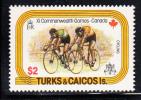 Turks & Caicos MNH Scott #358 $2 Cycling - 11th Commonwealth Games, Edmonton, Alberta, Canada - Turks & Caicos (I. Turques Et Caïques)