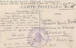 Marcophilie Cachet Miklitaire Convois Automobiles Très Bien Frappé Sur CPA  ARRAS Le Beffroi  Excellent état - Guerra 1914-18
