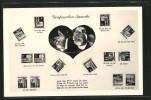 CPA Briefmarkensprache, Erläuterung Der Ausdrücke, Rosen In Einem Herz, Gedicht - Timbres (représentations)