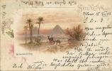 1903 Ansichtskarte Mit Pyramieden Von Kairo Nach Büttikon Schweiz - Égypte