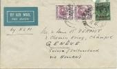 1944 Brief Vom Malasyia In Die Schweiz Via Holland - Territoire Britannique De L'Océan Indien