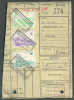 Document Avec 3 Timbres Oblitérés BERCHAM-Ste-AGATHE 13-V-1974 Vers Relegem - 7730 - Chemins De Fer