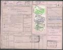 Document Avec  3 Timbres  Oblitérés HERBESTHAL 3-VI-1969 Vers MArche-en-Famenne - 7732 - Chemins De Fer