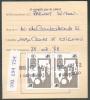 Document Avec 2  Timbres Oblitérés OTTIGNIES 22-I-1990 Vers Court-Saint-Etienne - 7734 - Chemins De Fer