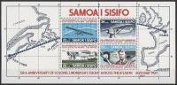 SAMOA 1977 - 50e Ann Vol Transatlantique Nord C. Lindbergh - BF Neufs // Mnh - Samoa