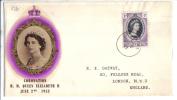TZ126 - ST. HELENA  , FDC  2/6/1953 - Isola Di Sant'Elena