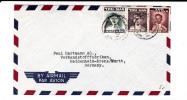 SIAM / THAILAND - 1954 - ENVELOPPE AIRMAIL De BANGKOK Pour HEIDENHEIM (GERMANY) - Siam