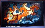Russische Lackmalerei 20. Jh. Motiv: Troika, Wandbild - Oestliche Kunst