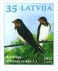 Latvia / Lettonie - Bird 2012 Swallow ; GOLDFINCH  MNH - Latvia