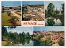 ARNAGE (Sarthe) - Mairie, Bords De La Sarthe, Vues Aériennes, Église  - Recto / Verso - Format CPM - - France
