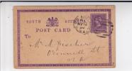 SOUTH AUSTRALIA - 1892 - CARTE POSTALE ENTIER De ADELAÏDE - 1855-1912 South Australia