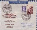 EXPOSITION DES AILES BRISEES PARIS 15-11-1947 - COMMEMORATION DES ESSAIS DE CLEMENT ADER 1897-1947-LETTRE POUR DAKAR - Luchtpost