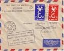 FRANCE-POLYNESIE-1er LIAISON AERIENNE DIRECTE FRANCE-POLYNESIE FRANCAISE PAR T.A.I. 28 SEPTEMBRE 1958-LETTRE DE FOURMIES - Luchtpost