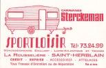 """Attention Carte De Visite (dim 12 X 8) Du Concessionnaire De Caravanes """" STERCKEMAN """" Route De Saint-Etienne - Visiting Cards"""