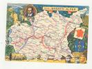 BASSES ALPES 04 CARTE POSTALE CARTE DEPARTEMENTALE REPRESENTANT LES LOCALITES Dessin  JP PINCHON Cassendi Miel Cire   B - Zonder Classificatie
