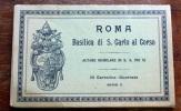 ROMA BASILICA DI SANCARLO AL CORSO  - 10 CARTOLINE DEL 1929 - Kerken En Kloosters