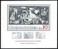CZECHOSLOVAKIA 1981 Picasso Paintings GUERNICA S/S MNH SPAIN CIVIL WAR - Unused Stamps