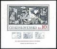 CZECHOSLOVAKIA 1981 Picasso Paintings GUERNICA S/S MNH SPAIN CIVIL WAR - Czechoslovakia