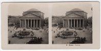 Photo Stéréoscopique-98 Roma: Panteon- Scans Recto-verso - Stereoscopic