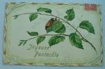 Carte Gauffrée Joyeuse Pentecôte Avec Un Doriphore - Fantaisies