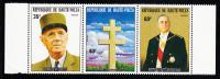 Upper Volta MNH Scott #327a Strip Of 3 Charles De Gaulle - Haute-Volta (1958-1984)