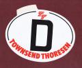 TOWNSEND THORESEN (ex - P&O Ferries) - Port - Bateau - Navire - Car Ferry - Calais-Douvres - Autocollant Nationalité - D - Autocollants