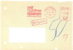 GERMANY. FRAGMENT METER SLOGAN. DRESDNER BANK. STUTTGART 1969 - Otros - Europa