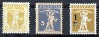 Switzerland 1907-1915 Tell´s Son 2,5 & 1 On 2 Surch. Mint  SG 225, 266, 298 - Suisse
