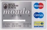 ITALY MAESTRO CIRRUS MONDO BANK CARD - Cartes De Crédit (expiration Min. 10 Ans)