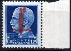 1944 Imperiale Soprastampato Lire 1,25 Sassone Nr. 495  Nuovo/ New (MNH)** - 4. 1944-45 Repubblica Sociale
