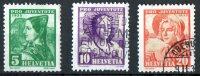Switzerland 1935 Pro Juventute 3 Values Used  SG J72-4 - Pro Juventute