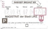 Ticket De Parking / Parschein - Stadt Linz 31-07-2006 [ville De Linz -  Österreich - Autriche - Austria] - Sonstige