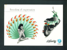 BELGIUM  -  Piaggio/Advertising Publicity Postcard/Used As Scans - Motorbikes