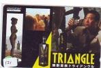 Télécarte Japon * ALCOOL * TRIANGLE (121) PHONECARD JAPAN * Alcohol * DRANK * DRINK * BEVERAGES * NUDE GIRL - Lebensmittel