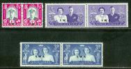 SWA 1947 Mint Hinged Stamps Royal Visit Pairs 252-257 - Namibia